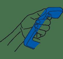 position de la main pour la prise de mesure avec accuniq
